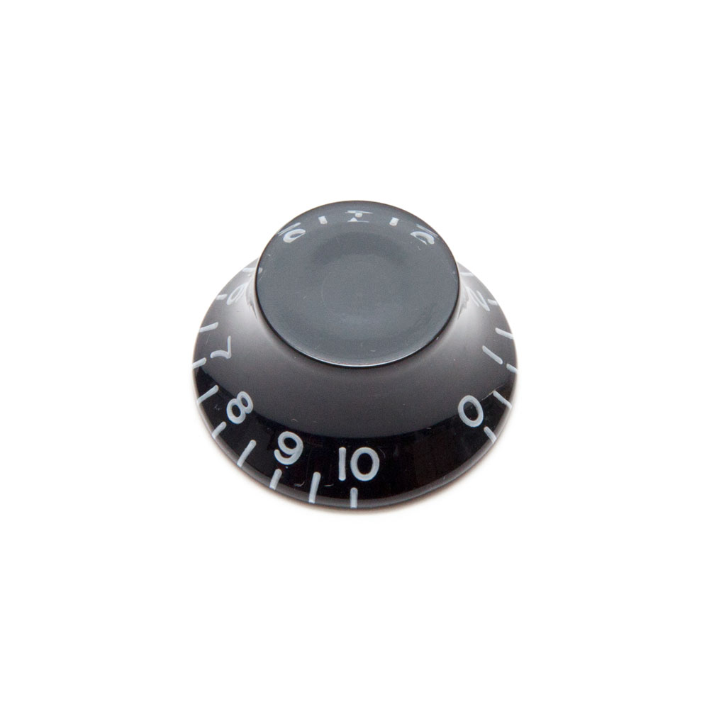 Hosco Hat Control Knob Gibson Style (Black, Imperial (inch))