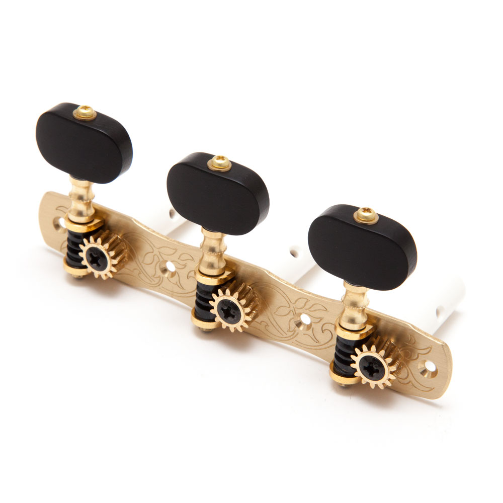 Gotoh 35G1800 Classical Tuners 3 x 3 (Solid Brass, EN)