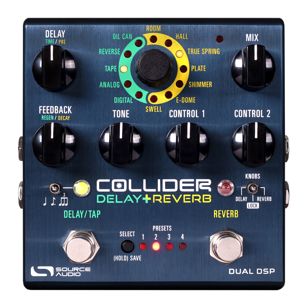 Source Audio Collider Dual Delay & Reverb Pedal
